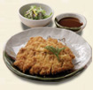 鹿児島産黒豚ひれとんかつ(サラダ付)